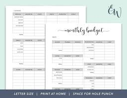 Monthly Budget Planning Monthly Budget Printable Budget Planner Budget Binder Finance Printable Budget Planning Budget Tracking Household Budget