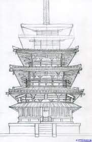 architecture building drawing. Exellent Drawing How To Draw A Pagoda Japanese Pagoda Step 13 Inside Architecture Building Drawing