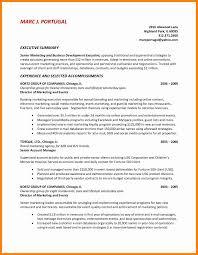 Good Resume Summary Blank Format Of Resume Marketing Sales Sample