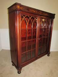 antique bookcase cabinet locking