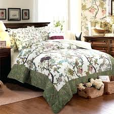 Cotton Quilt Bedding Set King Queen Twin Boho Birds Green ... & Cotton Quilt Bedding Set King Queen Twin Boho Birds Green Comforter Duvet  Cover 3 4 Quilt Comforter Sets Walmart Quilt Comforter Sets Full Comforters Adamdwight.com