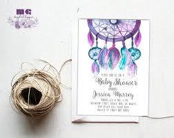 Dream Catcher Baby Shower Invitations Dream catcher baby shower invitation Boho baby shower invite 57