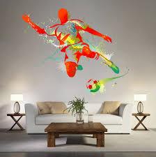 Soccer Bedroom Kcik119 Full Color Wall Decal Soccer Football Ball Sport Spray