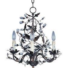 elegante 3 light oil rubbed bronze mini chandelier