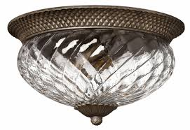 hinkley pearl bronze plantation flush mount