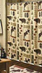 cabin shower curtain country curtains country moose and bear 5 piece bath set cabin decor shower cabin shower curtain
