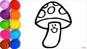 51+ Tranh tô màu cây nấm dễ thương cho bé tập tô