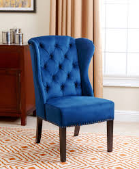 blue velvet dining chairs. Danielle Tufted Navy Blue Velvet Wingback Dining Chair Chairs L