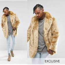 the size 20s 30s 40 generations fashion coordinates that asos select the new county long sleeves outer men jacket fake fur coat stone jacket outer stylish