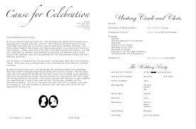 Wedding Ceremony Templates Free Wedding Program Example Wording Ceremony Programs Examples
