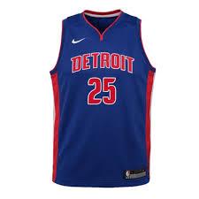 Nike Youth Swingman Jersey Size Chart Detroit Pistons Youth Nike Road Rose 25 Swingman Jersey