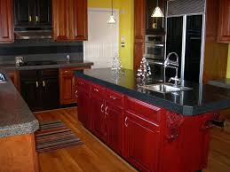 Red Kitchen Cupboard Doors Distressed Kitchen Cabinets With Unique Design Kitchen Cupboard