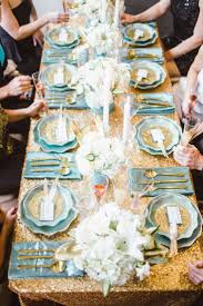 Blue And Gold Table Setting 10 Color Schemes For A Sparkling New Years Eve Party