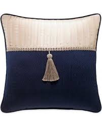 tassel throw pillow. Unique Throw Croscill Imperial Tassel Square Throw Pillow In Navychampagne Multi Intended E