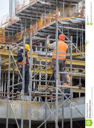 Scaffold Builders Builders Erecting Steel Scaffold Editorial Image Image Of