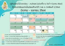ปฏิทินนัดหมายงานทะเบียน – วัดผล เดือน มีนาคม-พฤษภาคม นักเรียนชั้น  มัธยมศึกษาปีที่ 3,6 ภาคเรียนที่ 2/2563