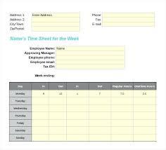 Excel Weekly Timesheet Template Weekly Template Excel Biweekly