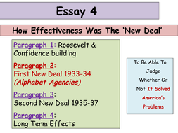 updated higher history usa essay new deal by  first new deal ppt