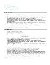 Test Engineer Resume Software Test Engineer Resume Automation Qa