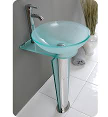 fresca vitale modern glass bathroom vanity sink