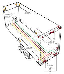 semi trailer tail light wiring diagram wiring diagram trailer light wiring color diagram diagrams