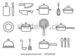 Trendy Kitchenware Vector Kitchenware Line Icon Set Cookware Stock .