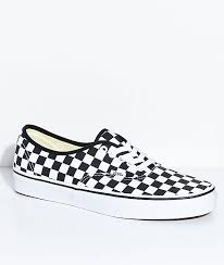 vans shoes white and black. vans authentic black \u0026 white checkered skate shoes and o