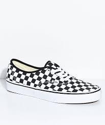 vans black and white. vans authentic black \u0026 white checkered skate shoes and i