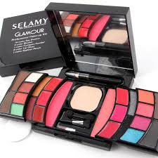 description selamy art colour collection glamour professional make up kit square cosmetic box