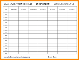 Revision Schedule Template Key To Activities Exam Timetable Template 2017 Time For