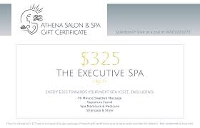 the executive spa gift certificate