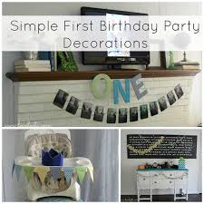 simple inexpensive first birthday