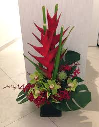 office flower arrangements. Helicornia, Cymbidium Orchid Table Arrangement Office Flower Arrangements C
