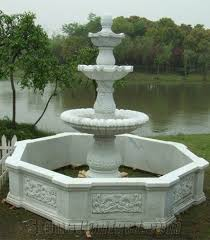 large garden water fountain outdoor use resin water fountain hand carved various kinds of water