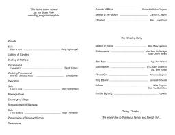 sample wedding program wording sample wedding brochure