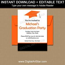 Graduation Invitation Template Extraordinary Graduation Party Invitation Template High School Graduation Etsy