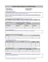 weekly report format in excel free download project weekly report template excel project report template weekly