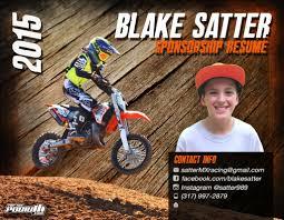 2015 Blake Satter Sponsorship Resume Topthepodium Com