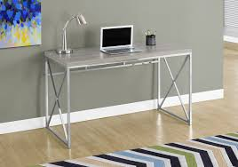 chrome office desk. Modern Dark Taupe \u0026 Chrome 48\ Office Desk
