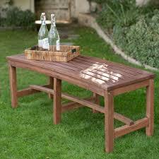 outdoor wood curved backless bench dark brown hayneedle