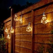 solar powered festoon fairy lights 50 warm white leds 10 clear bulbs 3 9m
