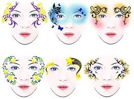 Amazon.com : SoarUp Face <b>Paint</b> Stencils, <b>7styles</b>/set Reusable ...