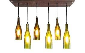 wine bottle light fixture lamp kit pendant lights exciting led pottery barn