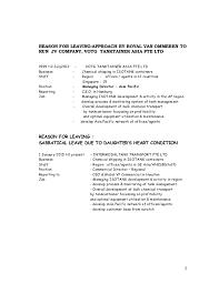resume reasons for leaving