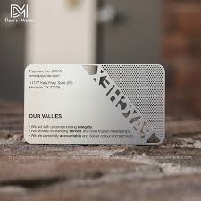 Stainless Steel Business Cards Us 135 0 High Grade Metal Business Card Metal Membership Card Custom Personalized Business Card Design Stainless Steel Business Card In Business