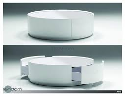 coffee table trends decoration round ottoman coffee table storage cocktail with oval slim side living room