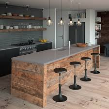 Granite Kitchen Benchtops Island Bench Top Featuring Caesarstone Sleek Concrete Kitchens