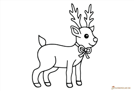 Rudolph Color Page And Coloring Pages Santa Rudolph Coloring Pages