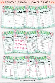 Tropical Flamingo Baby Shower Game Pack | Jasmine baby shower ...