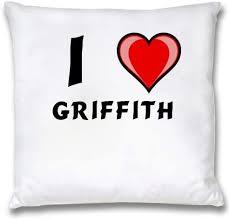 Ropa de almohada blanca con Amo Griffith (nombre de pila/apellido/apodo):  Amazon.es: Hogar